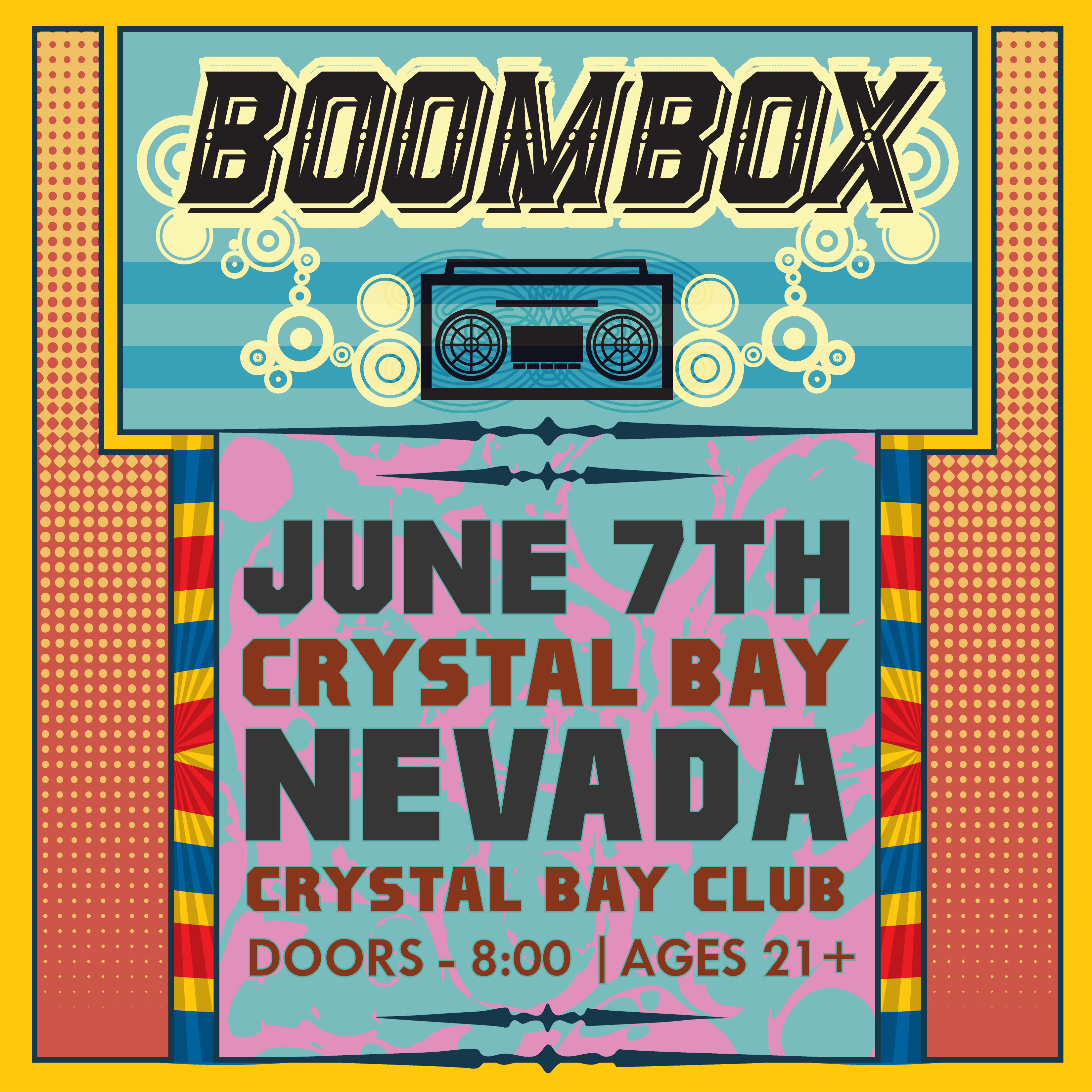 Fri. June 7th-2019/ BoomBox w/ Bazooka Zac + After Party w/ Nasty Nate &  Morast – In the Crystal Bay Club Casino Crown Room-21+ On Sale Now!
