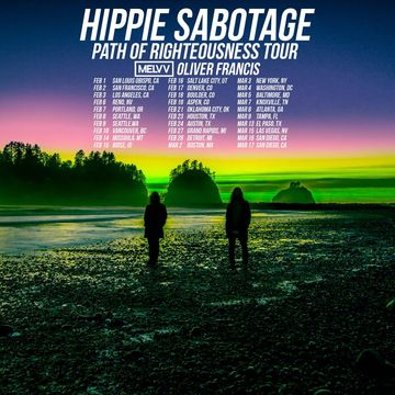 "Tues. Feb. 6th-2018/ Hippie Sabotage ""Path of Righteousness Tour"" w/ Special Guests – MELVV & Azizi Gibson  – Cargo@ The Whitney Peak Hotel-18+ On Sale Now!"