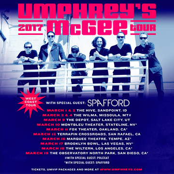 Umphreys 2017 West Coast
